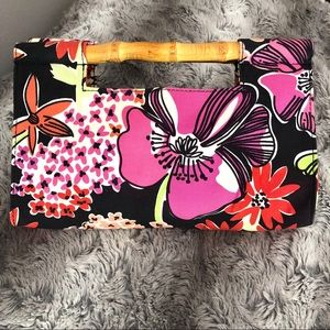 Lilly Pulitzer Bags - Lilly Pulitzer Floral Bamboo Clutch